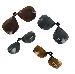 Assorted Polarized Clip-On Sunglasses